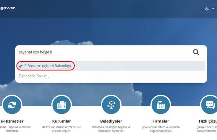 e-devlet e-başvuru sayfası